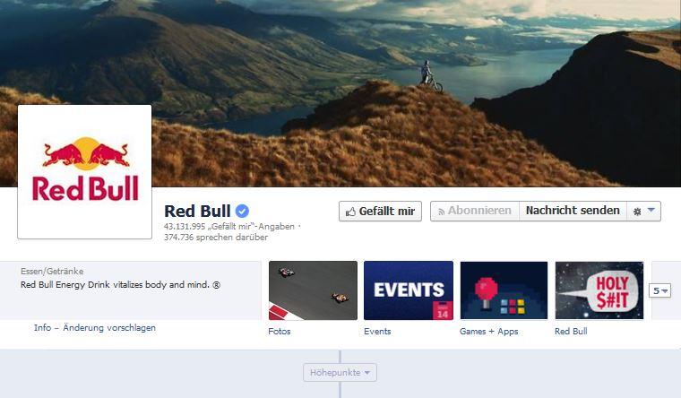 Facebook_Unternehmensseite_Beispiel_Redbull