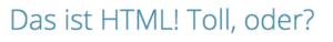 Ein Beispiel: H1-Tag (HTML)