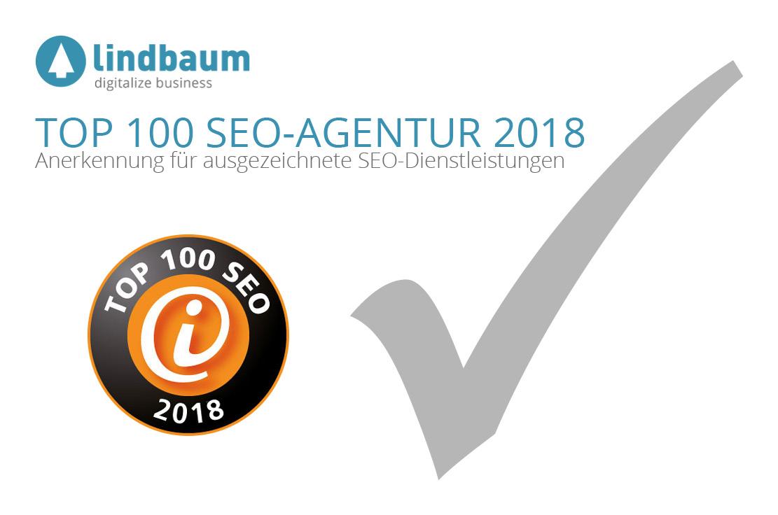 TOP 100 SEO lindbaum 2018 Beitragsbild