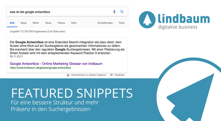 Featured Snippets Beitragsbild lindbaum