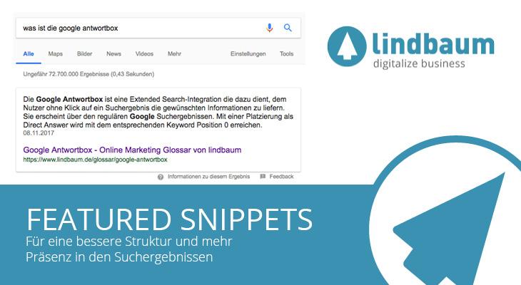 Featured Snippets Beitragsbild lindbaum