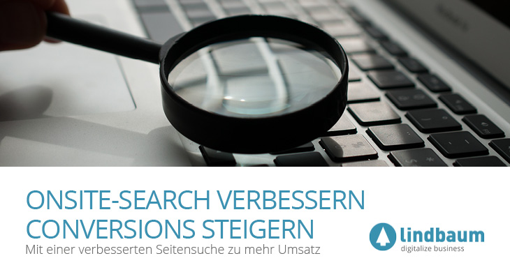 Onsitesearch Conversions Beitragsbild lindbaum